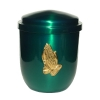 Metal urn - Stylo, green, Prayer