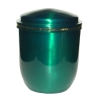 Metal urn - Stylo, green, plain