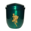Metal urn - Stylo, green, Rose